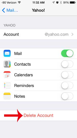iphone-5-ios-7-delete-yahoo-mail-account-4 - Email Phone Support