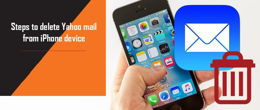 Steps to delete Yahoo mail from iPhone device